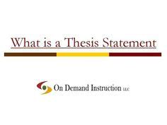 Thesis Statement Middle School Examples Of Good 650398